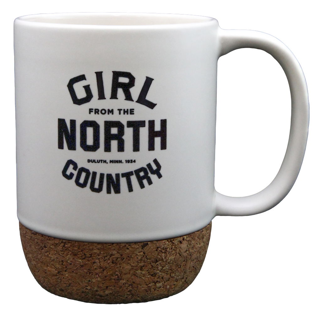 Girl from the North Country Logo Speckled Mug