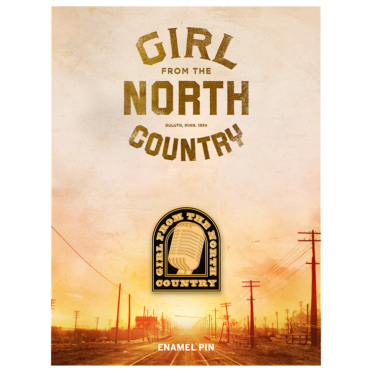 Girl from the North Country Enamel Mic Pin